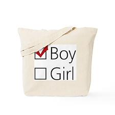 Boy Checkbox Tote Bag