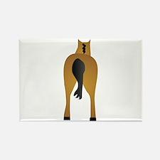 HORSES ASS Rectangle Magnet