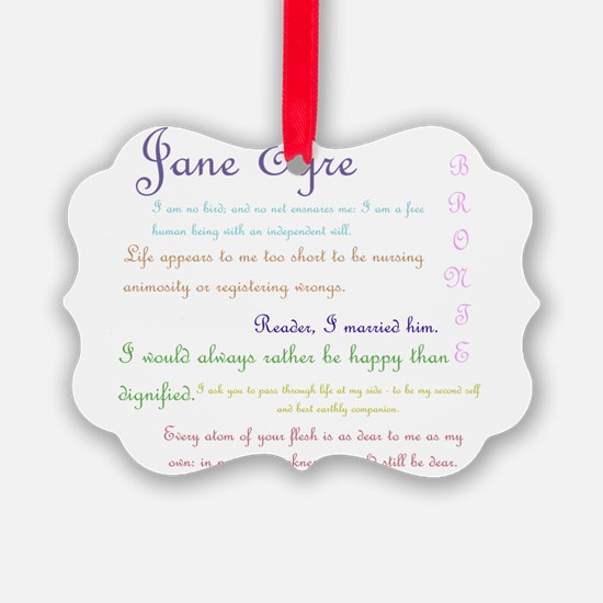 Jane Eyre Quotes Ornament