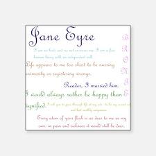 Jane Eyre Quotes Sticker