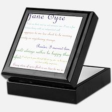 Jane Eyre Quotes Keepsake Box