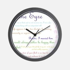Jane Eyre Quotes Wall Clock