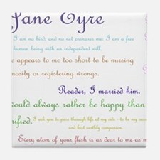 Jane Eyre Quotes Tile Coaster