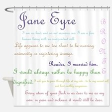 Jane Eyre Quotes Shower Curtain