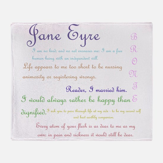 Jane Eyre Quotes Throw Blanket