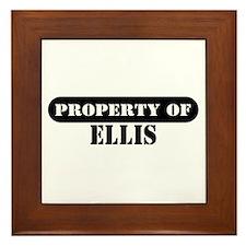 Property of Ellis Framed Tile