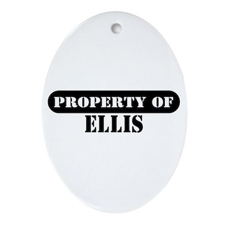 Property of Ellis Oval Ornament