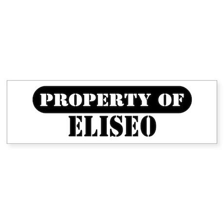 Property of Eliseo Bumper Sticker