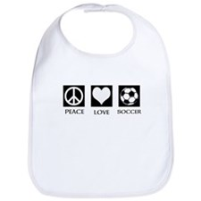Peace Love Soccer Bib