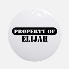 Property of Elijah Ornament (Round)