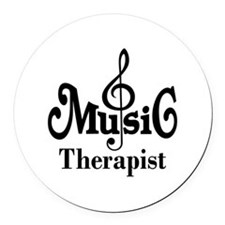 Music Therapist Gift Round Car Magnet