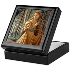 Siver Wood Princess Keepsake Box
