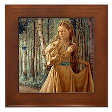 Siver Wood Princess Framed Tile
