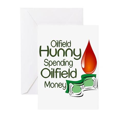 Oilfield Hunny Spending Oilfield Money Greeting Ca