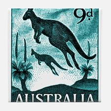 Vintage 1959 Australia Kangaroo Postage Stamp Tile