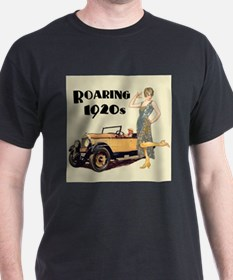 Flapper Lady and Fast Car - slogan T-Shirt
