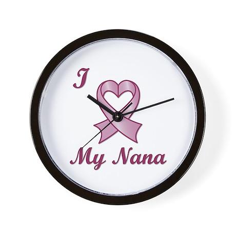 I love my Nana - Breast Cancer Heart Ribbon Wall C