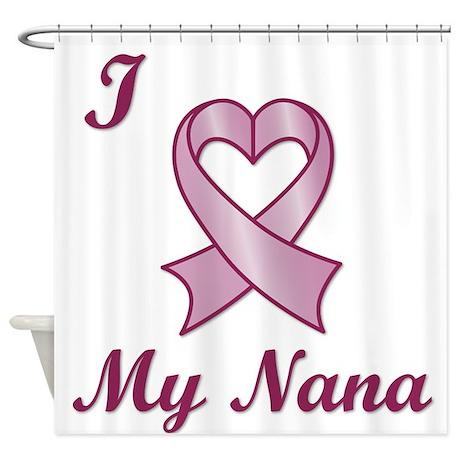I love my Nana - Breast Cancer Heart Ribbon Shower