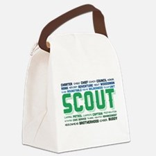 Scout Word Cloud Canvas Lunch Bag