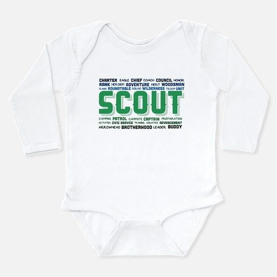 Scout Word Cloud Long Sleeve Infant Bodysuit