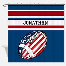 Custom American Football Shower Curtain