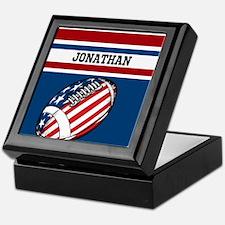 Custom American Football Keepsake Box