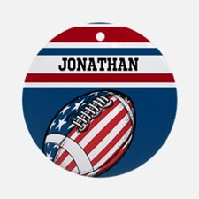 Custom American Football Ornament (Round)