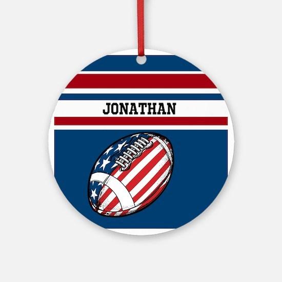Custom American Football Ornament (Round)