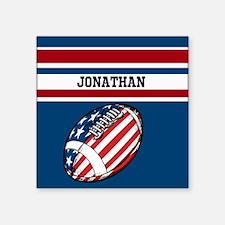 "Custom American Football Square Sticker 3"" x 3"""
