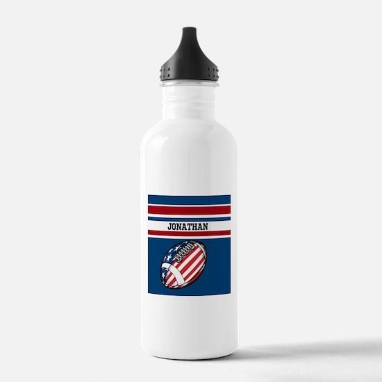 Custom American Football Water Bottle