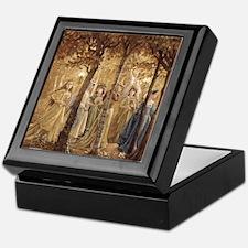 Golden Wood Princesses Keepsake Box
