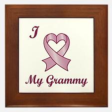 I love my Grammy - Breast Cancer Heart Ribbon Fram