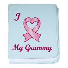 I love my Grammy - Breast Cancer Heart Ribbon baby