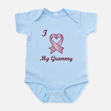 I love my Grammy - Breast Cancer Heart Ribbon Infa