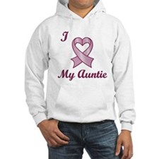 I love my Auntie - Breast Cancer Heart Ribbon Hood
