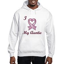 I love my Auntie - Breast Cancer Heart Ribbon Hood