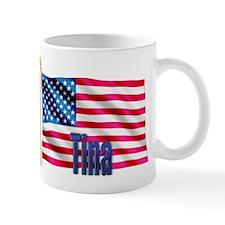 Tina American Flag Gift Mug