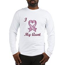 I love my Aunt - Breast Cancer Heart Ribbon Long S