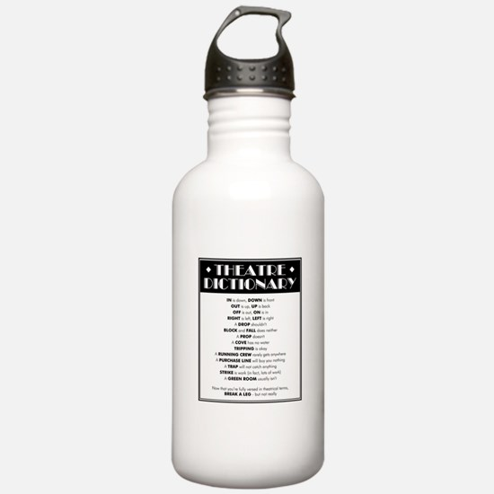 Theatre Dictionary Water Bottle