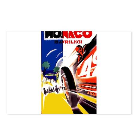 Antique 1931 Monaco Grand Prix Auto Race Poster Po