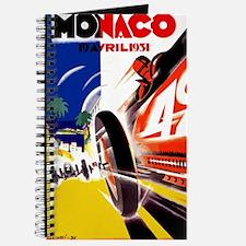 Antique 1931 Monaco Grand Prix Auto Race Poster Jo