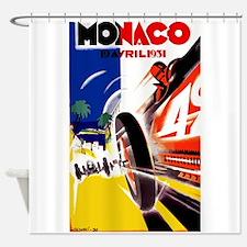 Antique 1931 Monaco Grand Prix Auto Race Poster Sh