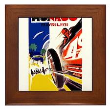 Antique 1931 Monaco Grand Prix Auto Race Poster Fr
