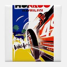 Antique 1931 Monaco Grand Prix Auto Race Poster Ti