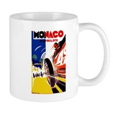 Antique 1931 Monaco Grand Prix Auto Race Poster Mu