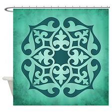 LOTUS - TEAL Shower Curtain