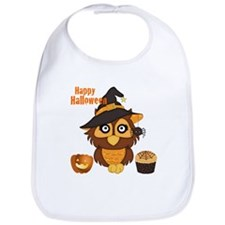 Spooky Owl-Halloween Bib