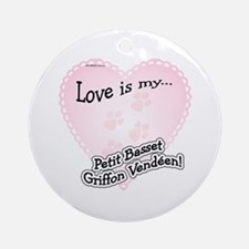 Love is my Petit Basset Griffon Vendeen Ornament (