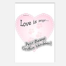 Love is my Petit Basset Griffon Vendeen Postcards