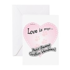 Love is my Petit Basset Griffon Vendeen Greeting C